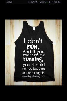 Please heed the warning. My coach never makes me run so beware...
