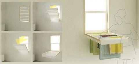 blindry: blinds---> laundry rack: Ideas, Window Blinds, Windows, Laundry Rack, Design, Drying Racks, Laundry Room