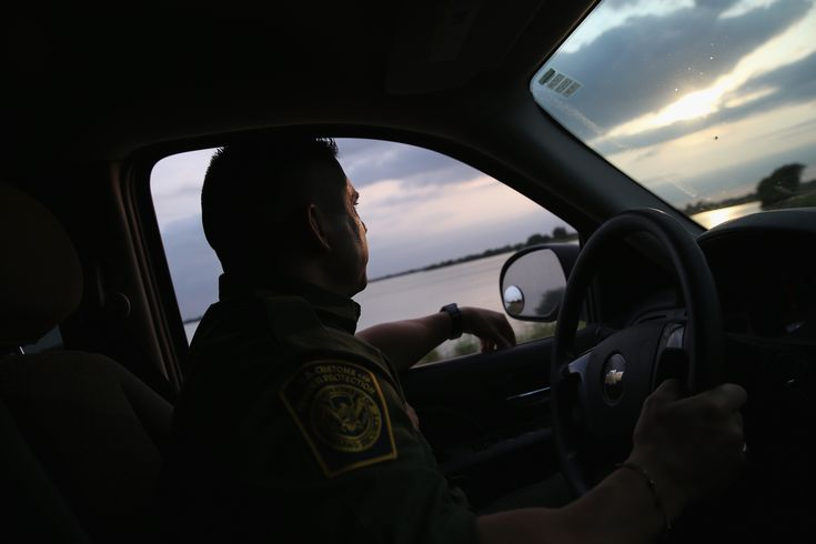 WESLACO, TX - APRIL 13: A Border Patrol agent looks for illegal immigrants near the U.S.-Mexico border on April 13, 2016 in Weslaco, Texas. Border security and immigration, both legal and otherwise, continue to be contentious national issues in the 2016 Presidential campaign. (Photo by John Moore/Getty Images)