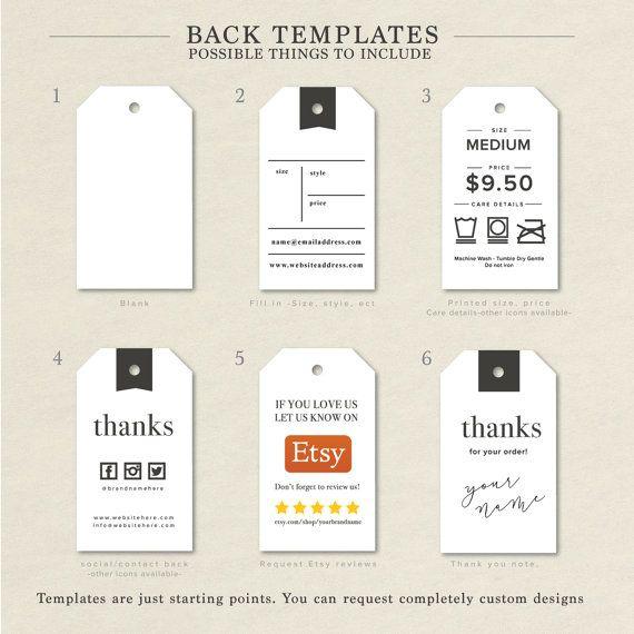 Etiquetas De Ropa Personalizadas Etiquetas De Ropa Etsy Hang Tags Clothing Clothing Tags Custom Hang Tags