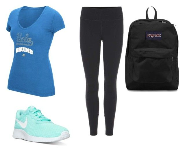 """UCLA"" by josiasashlee on Polyvore featuring adidas, NIKE and JanSport"