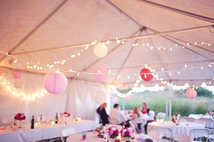 Des id es pour d corer la tente d co mariage queen for for Decoration pour reception