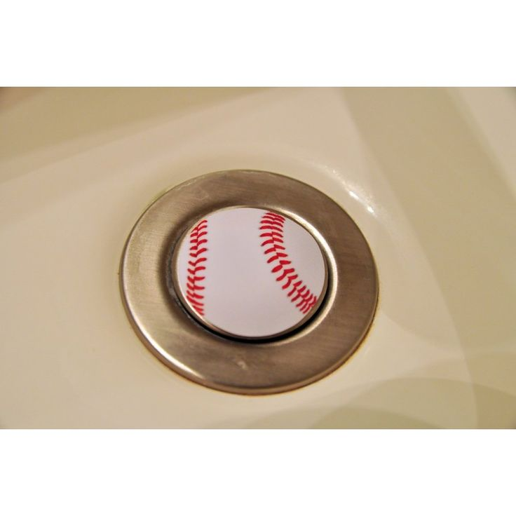 Baseball fans this is a great way to decorate your bathroom sink.