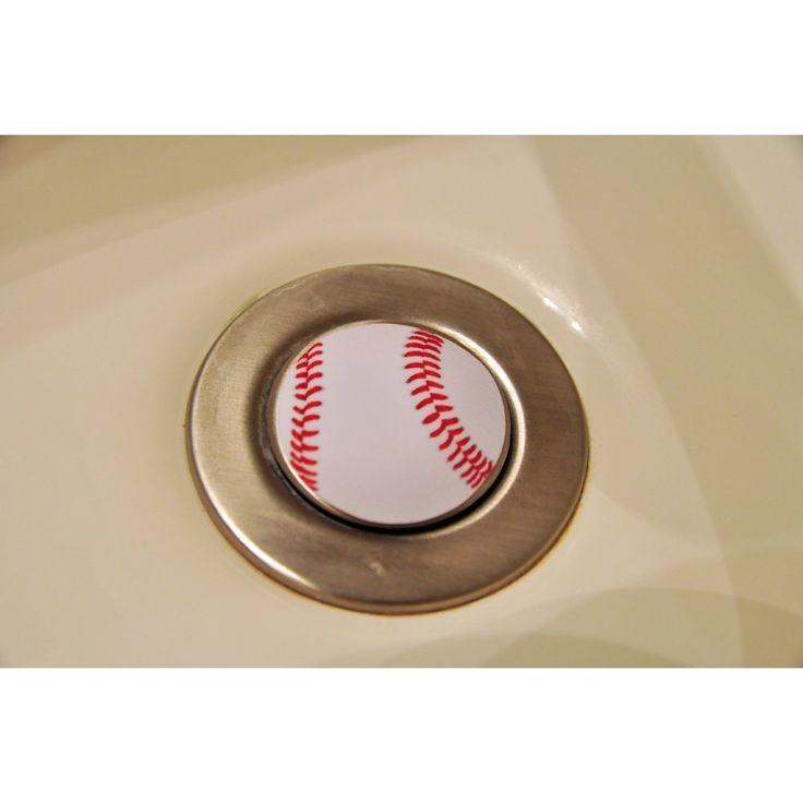 538 best images about baseball decor on pinterest for Baseball bathroom ideas