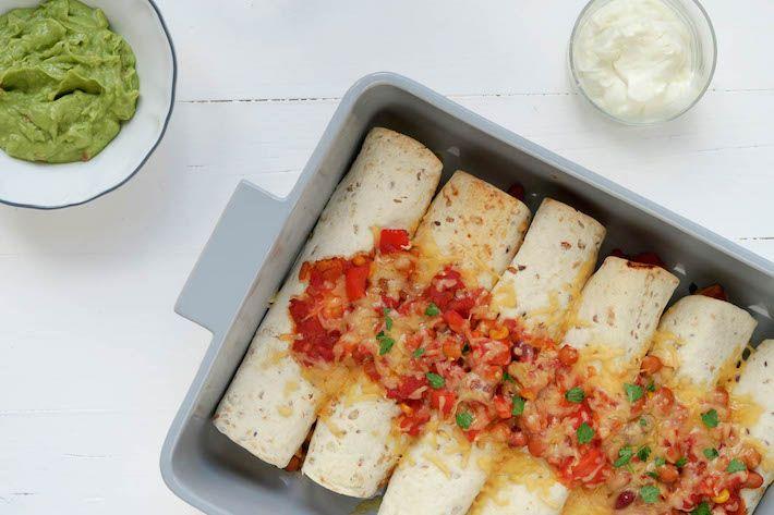 Heb jij wel eens enchilada's met kip gegeten, een super lekker Mexicaans recept.