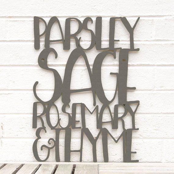 Parsley Sage Rosemary Thyme Kitchen Wall Decor Wooden Kitchen Etsy Kitchen Wall Decor Herb Wall Wall Decor