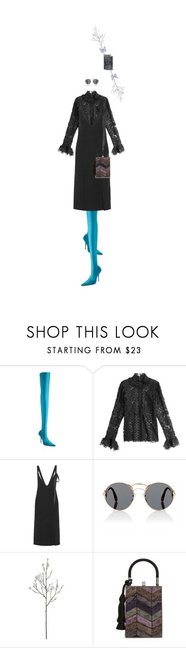 """""""Untitled #1685"""" by maja-z-94 ❤ liked on Polyvore featuring Balenciaga, Anna Sui, By Malene Birger, Prada, Crate and Barrel, Jill Haber and NOVICA"""