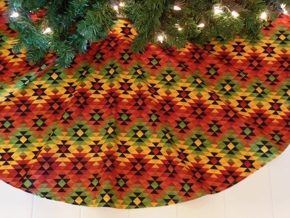 Southwestern Christmas tree skirt