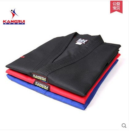 Black Adult Taekwondo Trainers clothing Professinal Master Taekwondo Dobok Taekwondo Uniform for men women free shipping