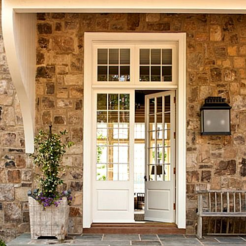 Love the stone exterior and the beautiful double doors