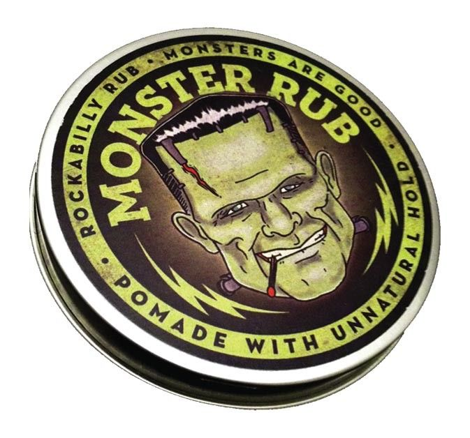 Beware! Monster Rub Pomade holds your hair in place with a death grip with a mysterious shine. don't forget the tantalizing bay rum scent for that high seas allure. Engineered by our mad scientists for hairstyles ranging from flat tops to hulking pompadours. With our special laboratory blend of n...