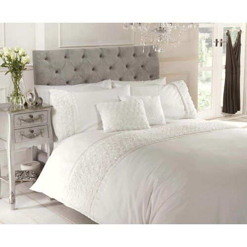 Poly Cotton Affilia Duvet Quilt Cover Set Double King Super King Size