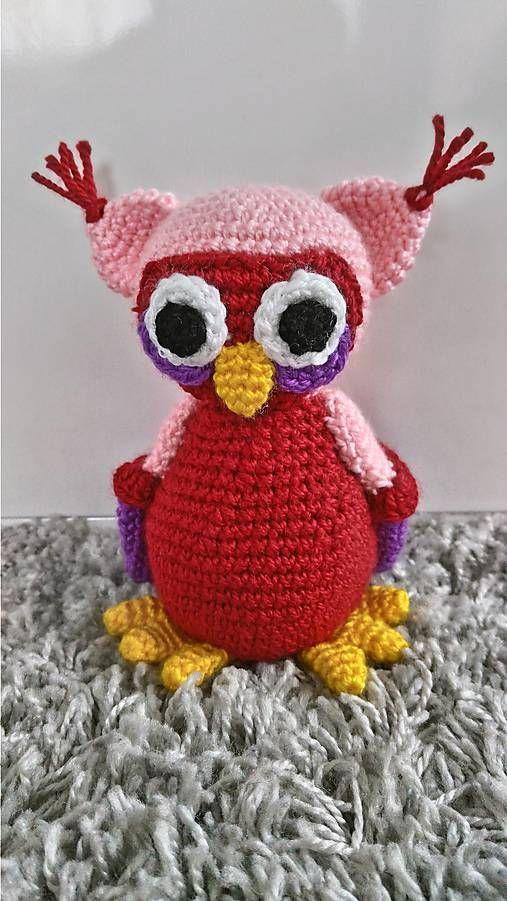 Jamin / sovička Dorotka crochet owl