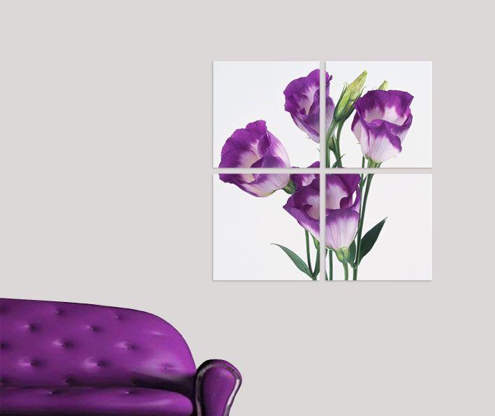 Pembe Çiçek Tablo 4 parçalı tablolar