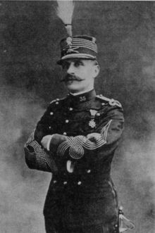 """Marshal Ferdinand Foch, GCB, OM, DSO (1851-1929), Allied Generalissimo during the First World War.On 11 November 1918 Foch accepted the German request for an armistice. Foch advocated peace terms that would make Germany unable to pose a threat to France ever again. After the Treaty of Versailles, Foch declared """"This is not a peace. It is an armistice for twenty years"""". His words proved prophetic: the Second World War started twenty years and 65 days later."""