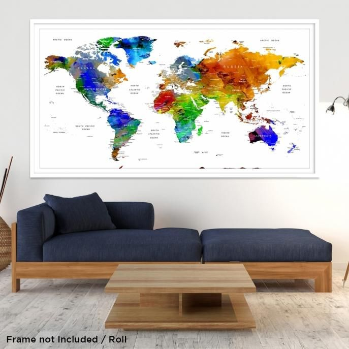 The 25 best world map canvas ideas on pinterest map canvas 80797 world map wall art world map canvas world map print world gumiabroncs Image collections