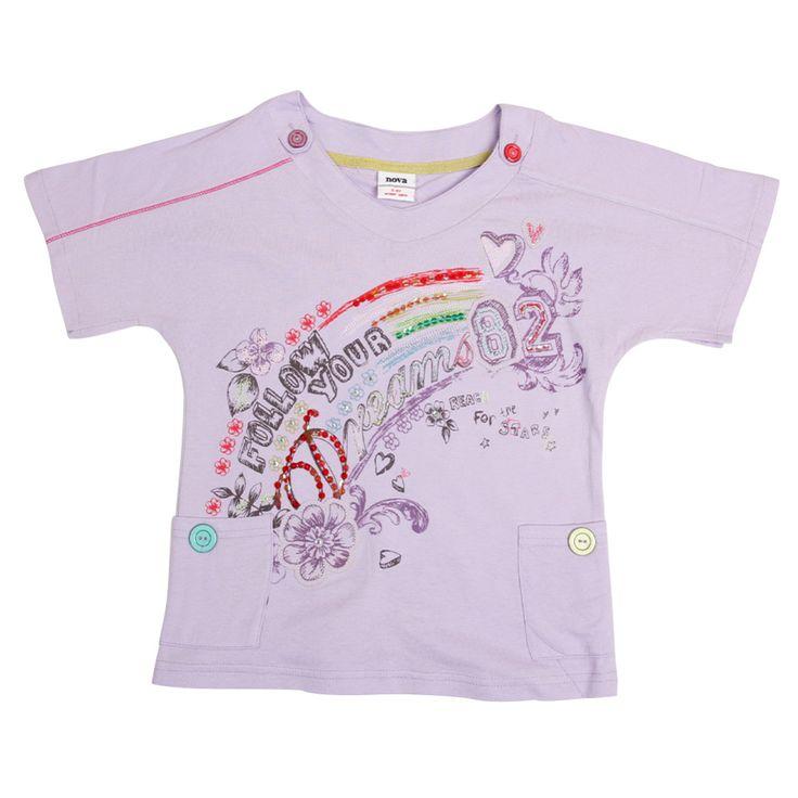 Детские летние фиолетовые футболки Детские девушки одежда Нова дети т рубашки девушки одежда топы детская одежда нова футболка девушки топы