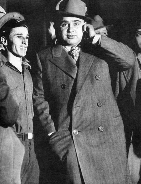 Al Capone leaving the federal court, October 1931