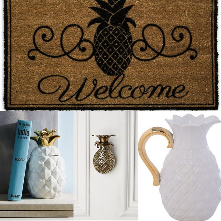 Pineapple Decor For The Home With Westelm And Onekingslane Home Living Room Pinterest