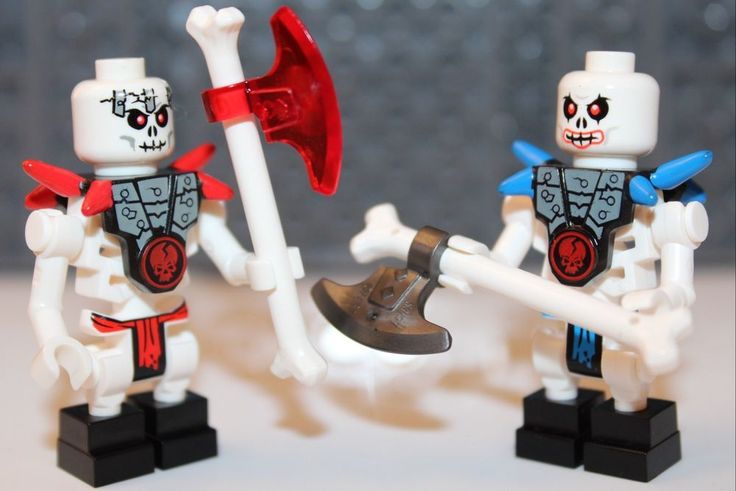 NEW LEGO NINJAGO FRAKJAW & KRAZI Skeleton Minifigures + 2 ...