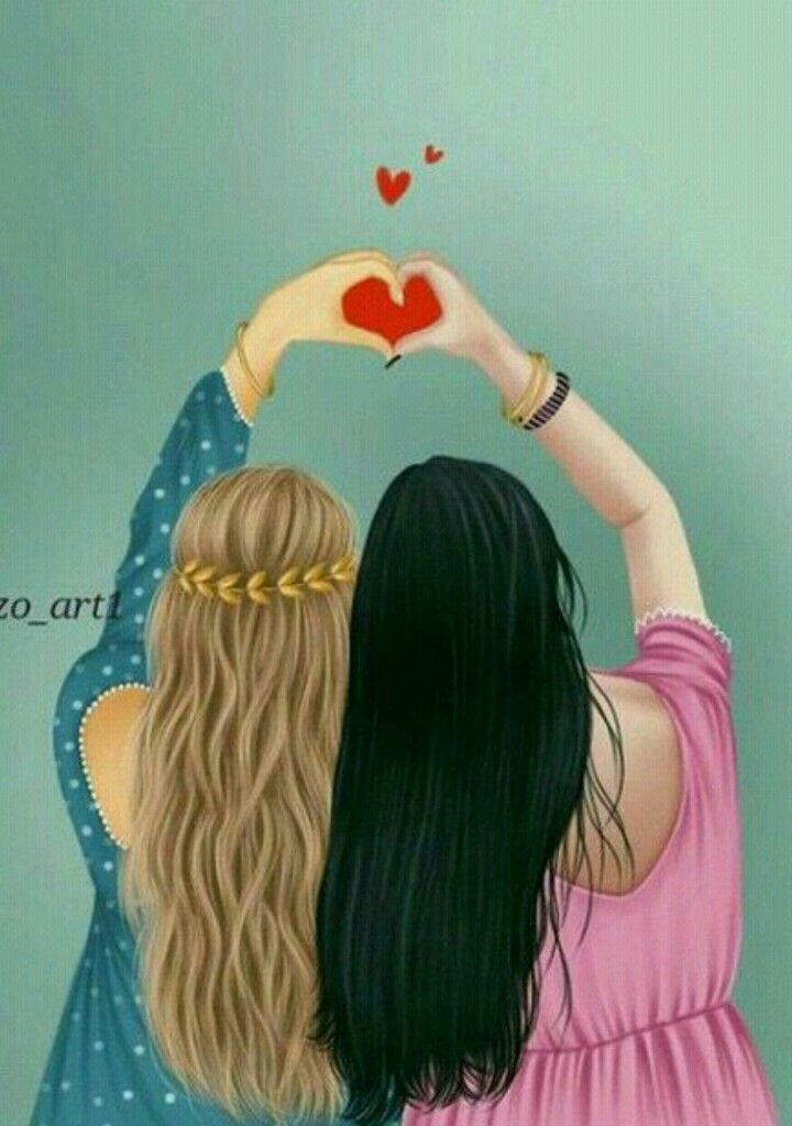 Pin De Melhores Amigas Amigos Desenho Desenhos De Amizade