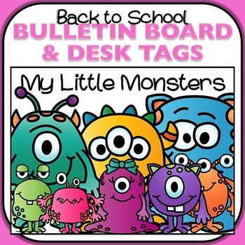 This monster-themed back to school bulletin board and desk tag set are just too cute! I cant wait to welcome my little monsters with this theme. All materials print on standard-sized 8-1/2 x 11 paper.Whats Included:My Little Monsters poster8 little monsters bulletin board pieces, 5-1/2 x 8-1/2 (print as many as you need for your class and add their names)8 little monsters desk plates, 4-1/4 x 11Enjoy!Brenda KovichMonsters clip art was created by Laura Strickland of Whimsy Clips.