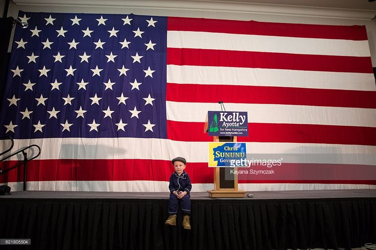 CONCORD, NH - NOVEMBER 8 - Gideon Toler, 3, attendsSen. Kelly Ayotte's (R-NH) election night party on November 8, 2016, in Concord, New Hampshire. Republican Senator Kelly Ayotte and Democratic Governor Maggie Hassan ran a hotly contested Senate race that was tight until the very end.