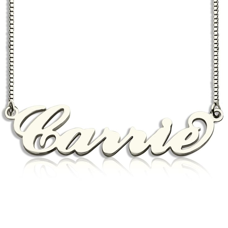 """Carrie """"Sex and the City"""" Name Necklace -Free Shipping From GetNameNecklace.com"""