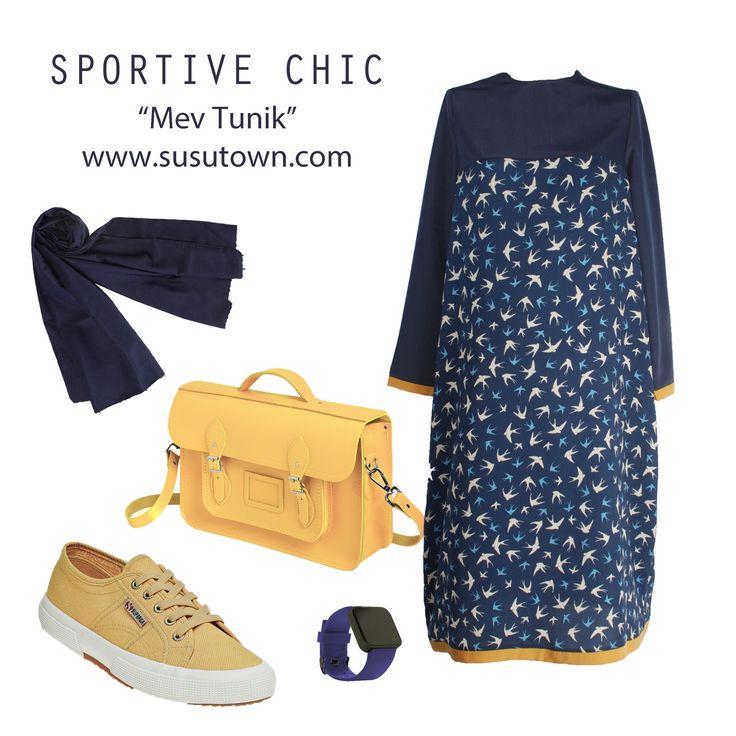 Sportive Chic  Şüşütown Mew Tunik - Tunic hijab style www.susutown.com
