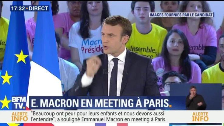 """Programme du FN: """"On n'en veut pas"""", scandent les sympathisants de Macron"""
