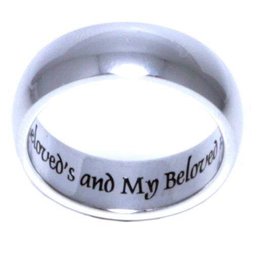 I am my beloved's and beloved's is Mine - Stainless steel jewelry - Stainless steel rings for women / men / ladies or girls. Promise ring / Wedding Band / Wedding Ring / Poesy ring.: Jewelry: Amazon.com
