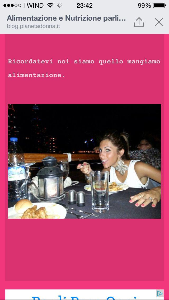 Noi siamo il prodotto di quello che mangiamo vi aspetto nel mio blog femme di valentina collu