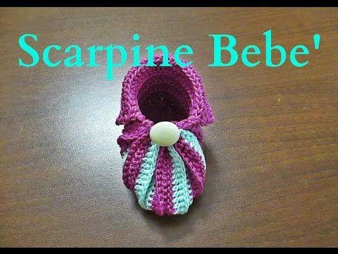 Tutorial Uncinetto Scarpine Bebe' - YouTube