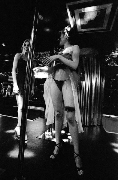 Ninon on stage with Sofia, before the doors open.