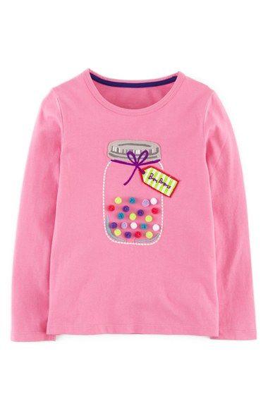 Mini Boden 'Dotty' Appliqué Tee (Toddler Girls, Little Girls & Big Girls)…