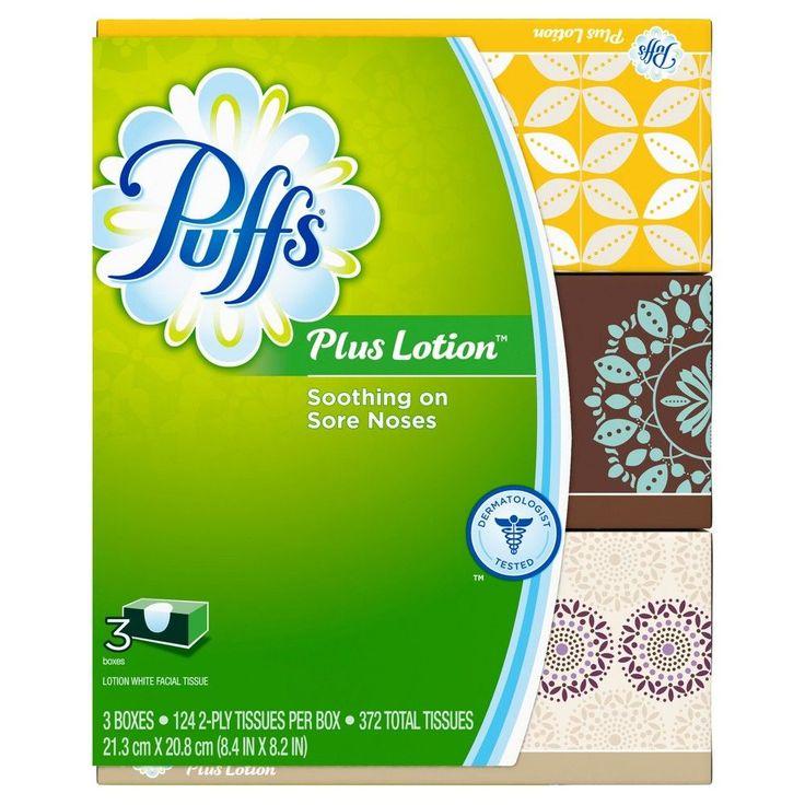 Puffs Plus Lotion White Facial Tissues 372ct Facial