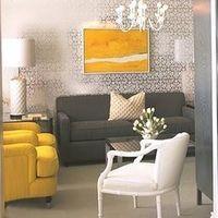 Gray and Yellow Room - Contemporary - li... : 【海外インテリア】ライトグレー×ポイント刺し色でこんなにスタイリッシュな部屋にな... - NAVER まとめ