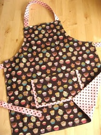 Child's apron and chef hat