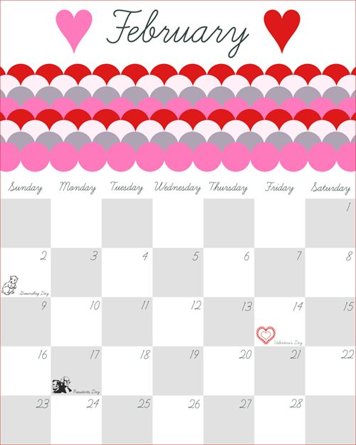 Download 2015 February Calendar Printable Template Design Blank