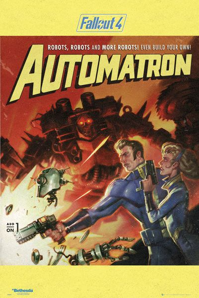 Fallout 4 - Automatron - Official Poster. Official Merchandise. Size: 61cm x 91.5cm. FREE SHIPPING