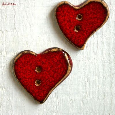 Bela Stitches: ceramic buttons