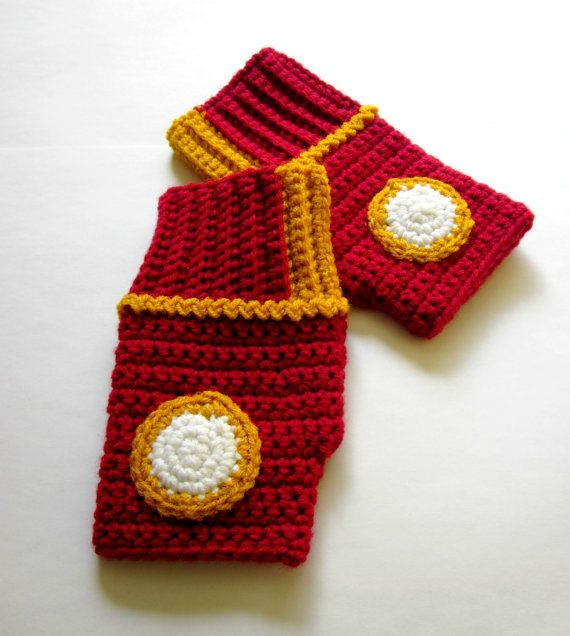 Power Wristies Iron Man Inspired Wristwarmers by Nerdifacts, $45.00
