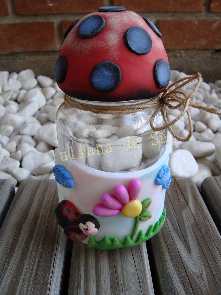 Pote biscuit com pintura- Ateliê Juliana de Sá e-mail: julianah.sa@hotmail.com