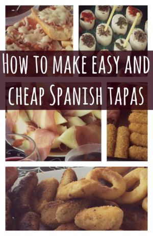How to make easy and cheap Spanish tapas. #Spain #Granada #tapas #recipe #cooking #food #travel #travelling