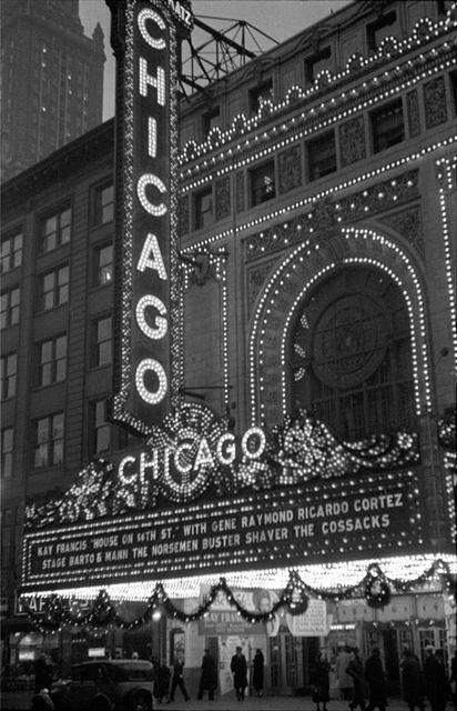 Chicago Theatre, Chicago, IL - 1933, in its former movie days.