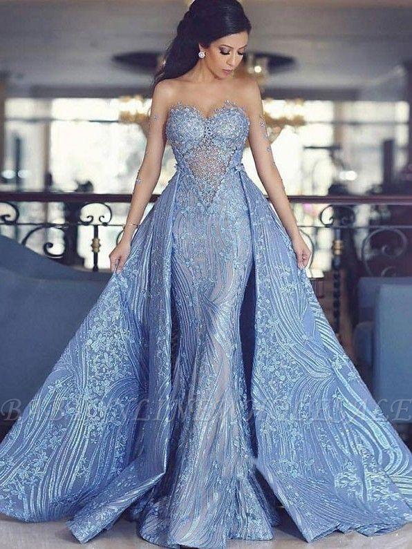 Modest Lace Sweetheart Langes Abendkleid   2019 Abendkleid Abnehmbarer Zug   w …   – dinner