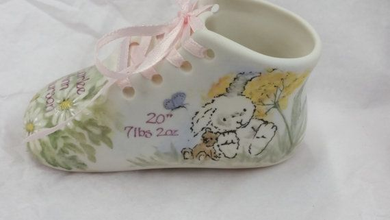 4423f9e49f9c7 Customized Porcelain Bisque Baby Shoe Birth Keepsake in 2019 | Art ...
