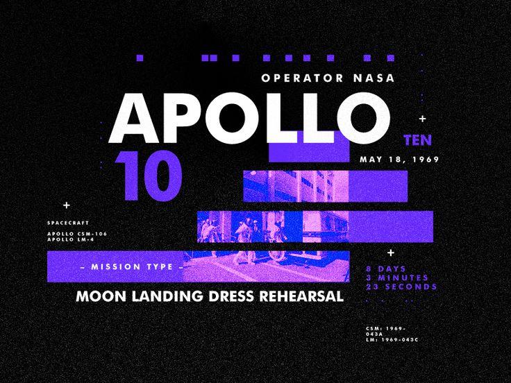 Apollo 10 by  StudioJQ  #Design Popular #Dribbble #shots