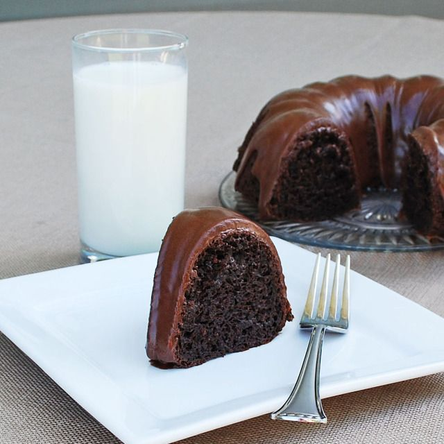 Sinful Chocolate Cake --   1 box Devil's Food Cake Mix  1/2 Cup water  1/2 Cup oil  4 eggs  1 Cup sour cream  1 box instant chocolate pudding  1 16 oz. bag chocolate chips  1/2 Cup heavy whipping cream
