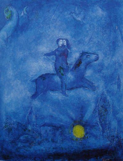 Los azules y violetas más importantes para pintar Historia del caballo de ébano. Marc Chagall